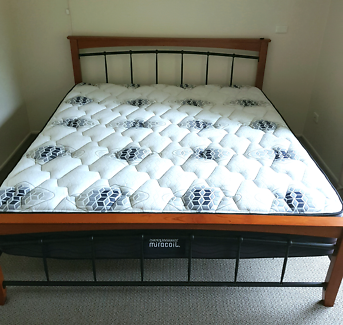 KING SIZE BED - Mattress and base