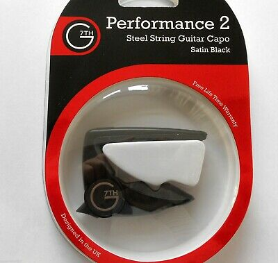G7th Performance 2 Professional Acoustic & Electric Guitar Capo -Satin Black
