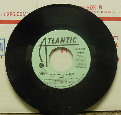 PROMO COPY! Abba: The Day Before You Came / The Day Before You Came. 45 RPM, EX
