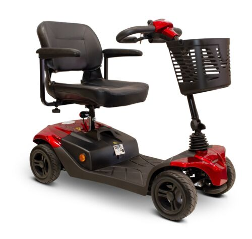 Ewheels Medical Ew-m41 Four Wheel Scooter, Red 350 Lb Cap, Lights, Suspension