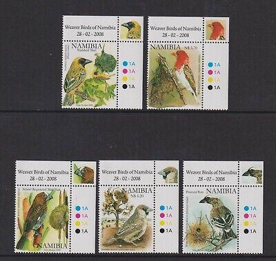 Namibia - 2008, Weaver Birds of Namibia set - MNH - SG 1091/5