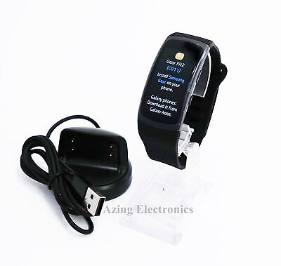 Samsung Gear Fit2 SM-R360 HR Fitness Smartwatch Black, Large