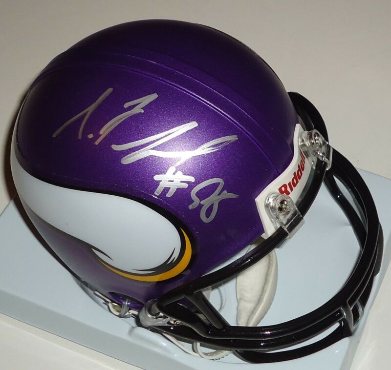 Sharrif Floyd signed Minnesota Vikings mini football helmet w/coa Gators #2