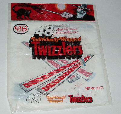 1970's TWIZZLERS Candy Halloween Trick or Treat store bag - Halloween Candy Store
