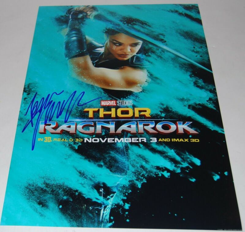 TESSA THOMPSON signed (THOR RAGNAROK) 12X18 movie poster photo VALKYRE W/COA #2