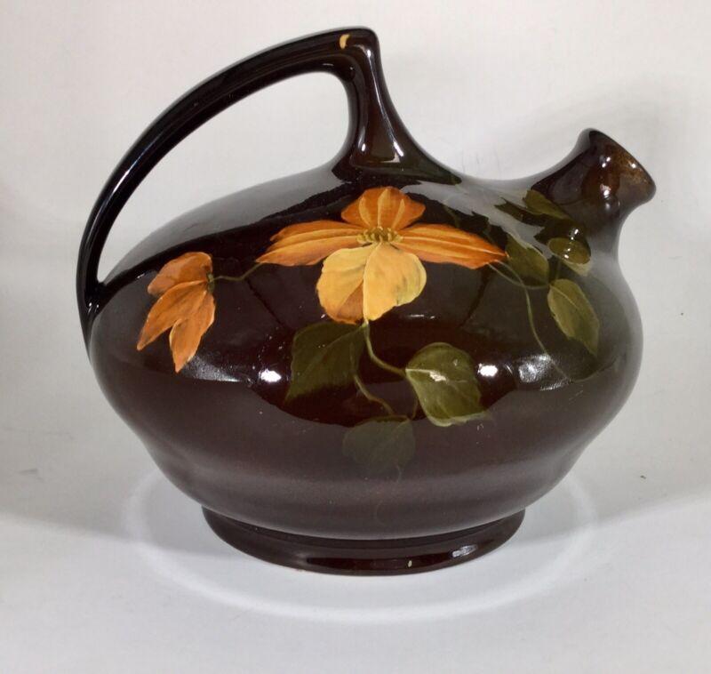 Owens Pottery  Utopian Floral Pitcher