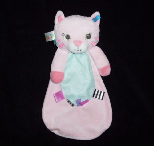 Taggies Bright Starts Pink Kitty Cat Rattle Baby Blanket Security Lovey