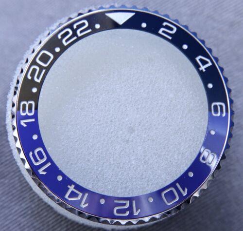 COMPLETE STAINLESS STEEL BEZEL FOR GMT MASTER II BATMAN BLACK/BLUE COLOR