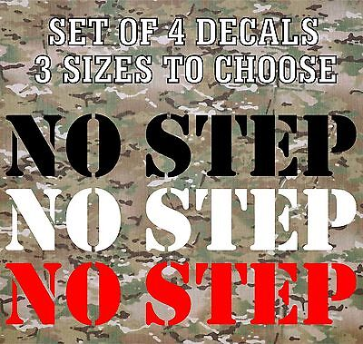 NO STEP Vinyl Decals Stickers Stencil Truck Boat Jeep Army Military - Footprint Stickers
