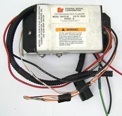 Federal Signal Fp1-06 Headlight Flasher Model 656101-06 12vdc Series B Crown Vic