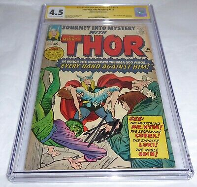 Journey Into Mystery #110 CGC SS Signature Autograph STAN LEE Cobra Hyde Thor 🔥