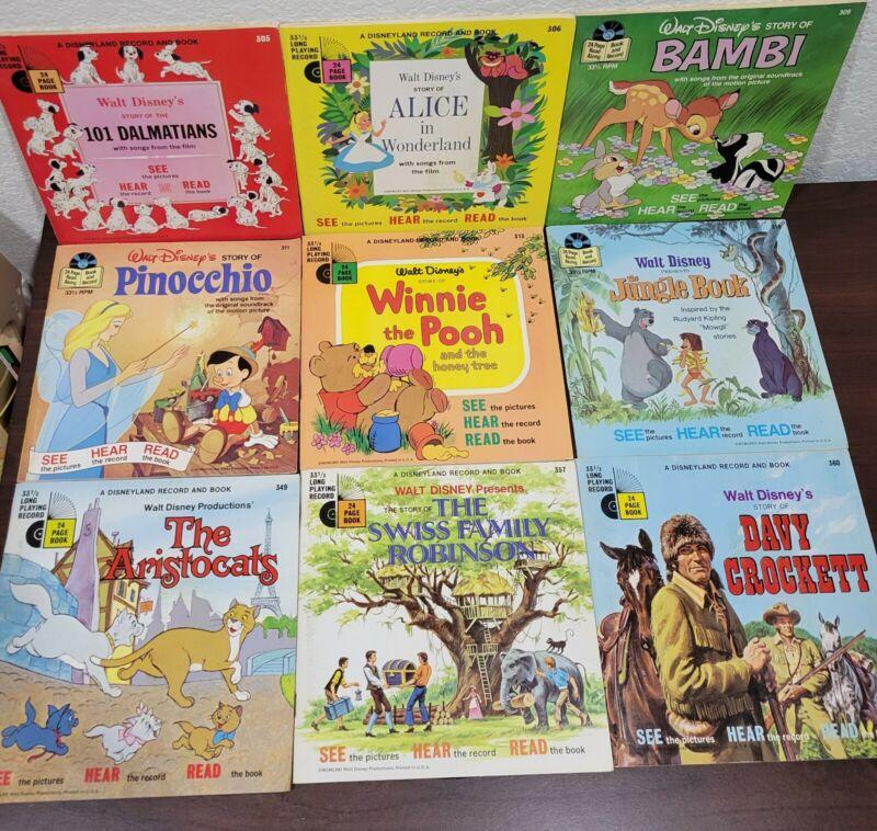 Lot of 9 VTG SEE HEAR READ Walt Disney