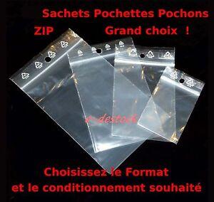 Lot-de-Sachets-plastique-fermeture-pression-ZIP-Transparent-Pochettes-pochon-bag