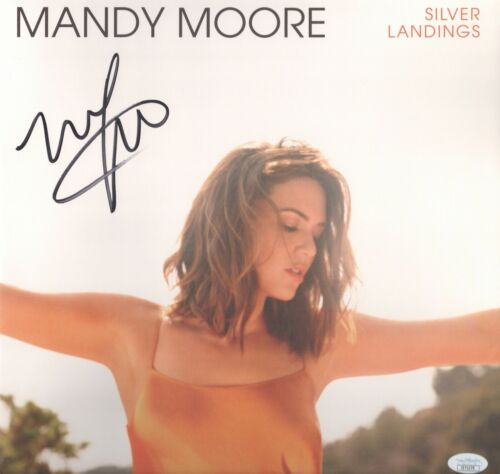 MANDY MOORE Signed SILVER LANDINGS LP VINYL RECORD THIS IS US Autograph JSA COA