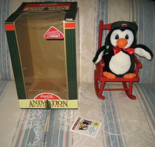 WORKS 1997 Christmas Coca Cola Rocking Chair Animated Plush Target Exclusive