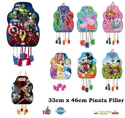 PARTY PINATA Party Game Pinata Filler Princess Marvel Peppa Pig Mickey PJ Mask  - Pig Pinata
