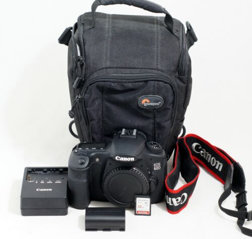 MINT Canon EOS 60D 18.0 MP Digital SLR Camera Body ONLY 3K SHUTTER COUNT 32GB