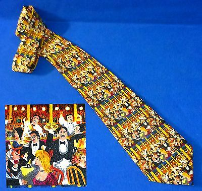 Beautiful Guy Buffet Ala Carte Restaurant Waiters Silk Neck Tie