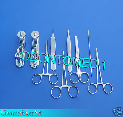 Circumcision Set Cw 2 Gomco Style Clamp 1.1cm1.9cm Ss 6 Ss Inst Ds-828