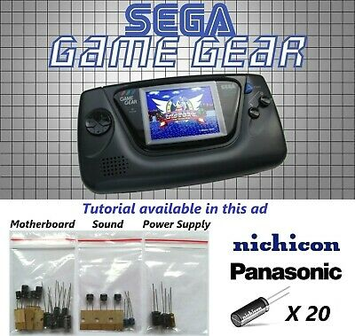 SEGA Game Gear Replacement Capacitors | Complete Cap Kit [High Quality]