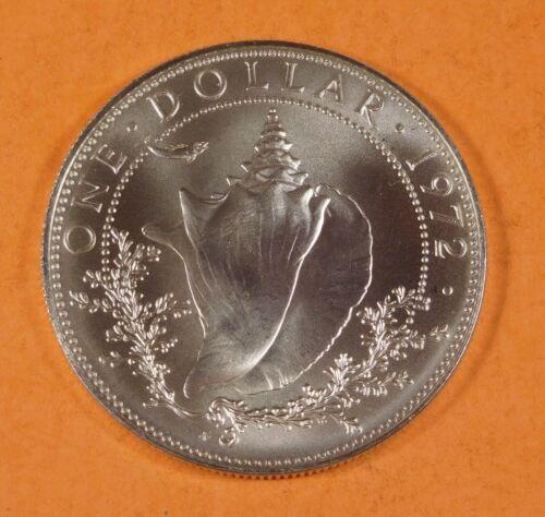 1972 BAHAMA 1 DOLLAR COIN - Silver - UNC