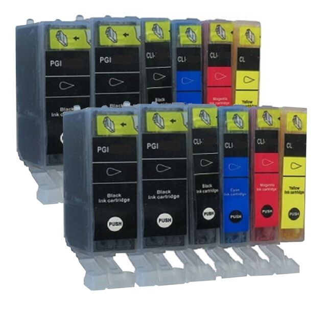 12 Patronen für Canon Pixma iP4850 iP4950 Series with Chip Free Choice of Colour
