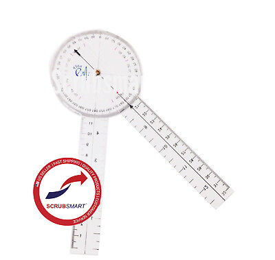 Us Seller Fast Shipping Brand New Protractor Goniometer 8 Inch