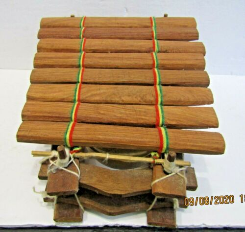 1-VINTAGE XYLOPHONE-WOODEN AFRICAN TRIBAL-HANDMADE IN SENEGAL-WITH MALLET-EX