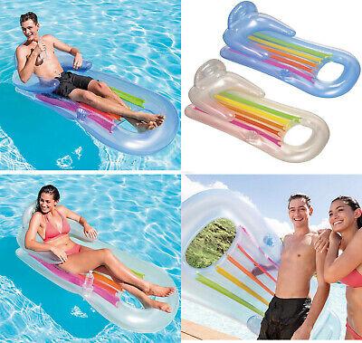 Sillon colchoneta hinchable piscina intex 160x85,reposabrazos,respaldo,portavaso
