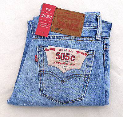 LEVIS 505C Women Jean Rare Quality Crafted Japanese Selvedge Slim Straight 30 30