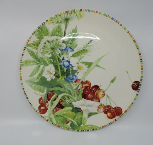 """GIEN CHERRY SERVICE PLATE / CHARGER  - 12 1/8""""  1409C"""