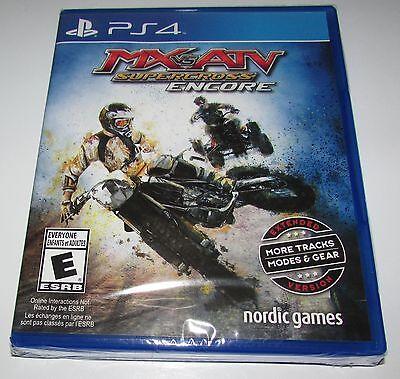 MX VS ATV Supercross Encore for Playstation 4 Brand New! Factory Sealed!