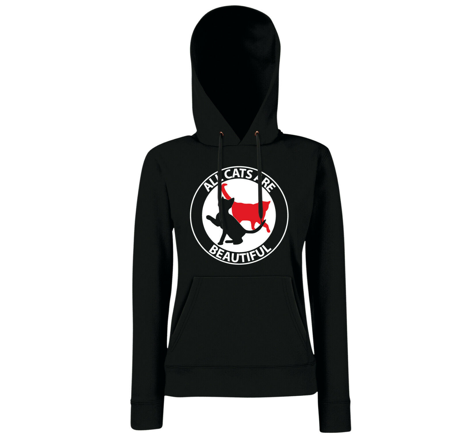 All cats are beautiful Girls Hoodie schwarz