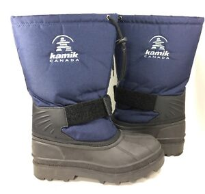 Men's Kamik Canada Navy Snow Boots with removable liner Size 8M - FREE SHIPPING