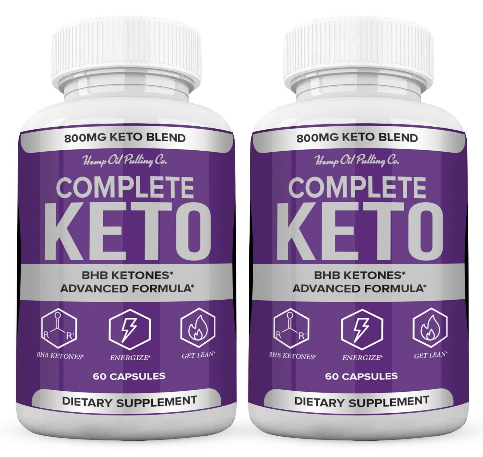 (2 Pack) Complete Keto Pills 800mg, Keto Complete Diet Pills - Fat Burn Capsules