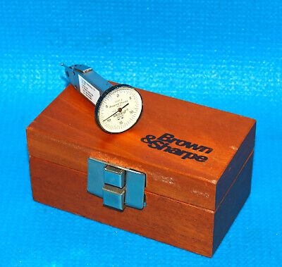 Bestest .0005 Vertical Jig Bore Style Dial Indicator 7037-3 Wood Storage Case