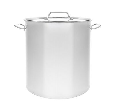 160 Quart Stock Pot (NEW 160 QT Quart Polished Stainless Steel Stock Pot Brewing Kettle Large w/ Lid)