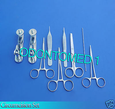 Circumcision Set Cw 2 Gomco Style Clamp 1.1cm1.5cm Ss 6 Ss Inst Ds-826