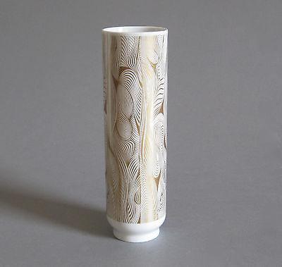 Op Art Vase Hutschenreuther 60er 70er Jahre Design Vasarely Era Modernist 20cm