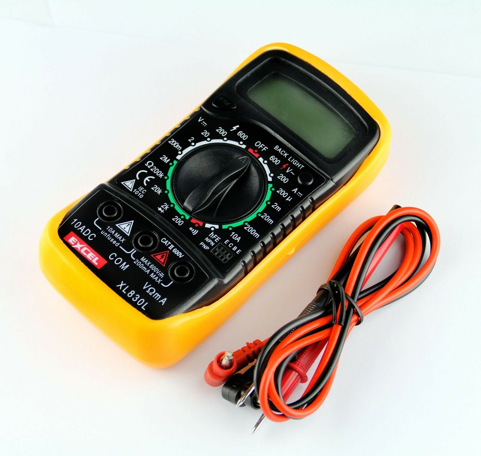 Hand Held Tester : New large digital multimeter hand held tester electrical
