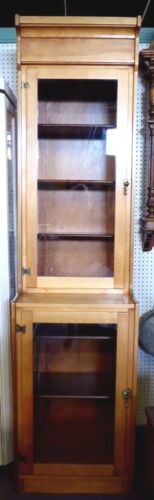 "Vintage Tall, Narrow Step-Back Cupboard Cabinet  92""H x 24""W. Adjustable Shelves"