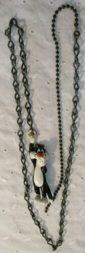 """VINTAGE 1988 SYLVESTER THE CAT CEILING FAN PULL WARNER BROS APPLAUSE 35"""" Chain"""