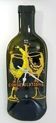 Silent Bottle Wall Clock,Recycled,Hand Painting,Personalized,Rosh - Hashana Gift