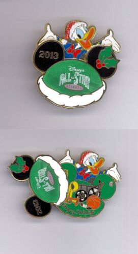WDW Disney All-Star Resorts Music Movies Sports Donald Mickey Ear Hat Slider Pin