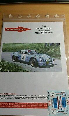 DECALS 1//32 REF 616 ALPINE RENAULT A110 MOUTON RALLYE TOUR DE CORSE 1975 RALLY