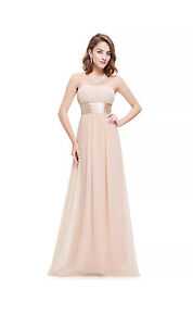 Long strapless beige colour size 10 Bass Hill Bankstown Area Preview