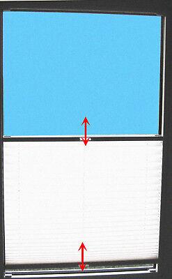 Plissees nach Maß Verdunkelungsrollos Faltrollos 2 Griffe direkt vor die Scheibe