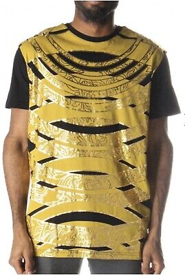 Versace Black & Yellow Foil Tshirt