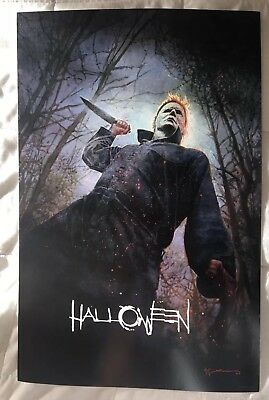 2018 SDCC Comic Con Exclusive Bill Sienkiewicz Halloween Poster 11x17