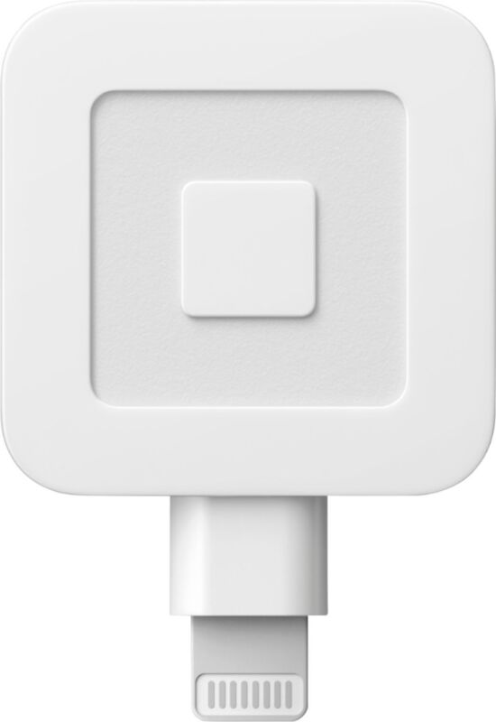 Square - Reader for Magstripe (with lightning connector) - Glossy White